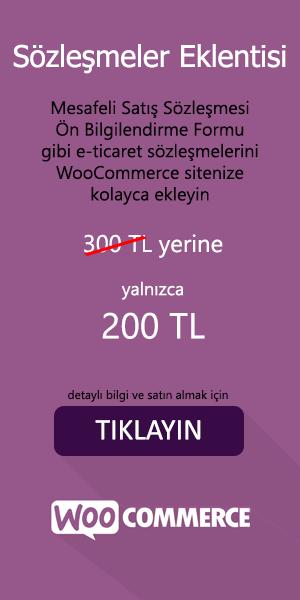 WooCommerce Sözleşmeler Eklentisi